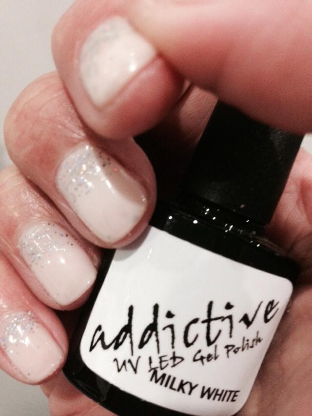 Colorful Milky White Nails Ideas - Nail Art Design Ideas ...