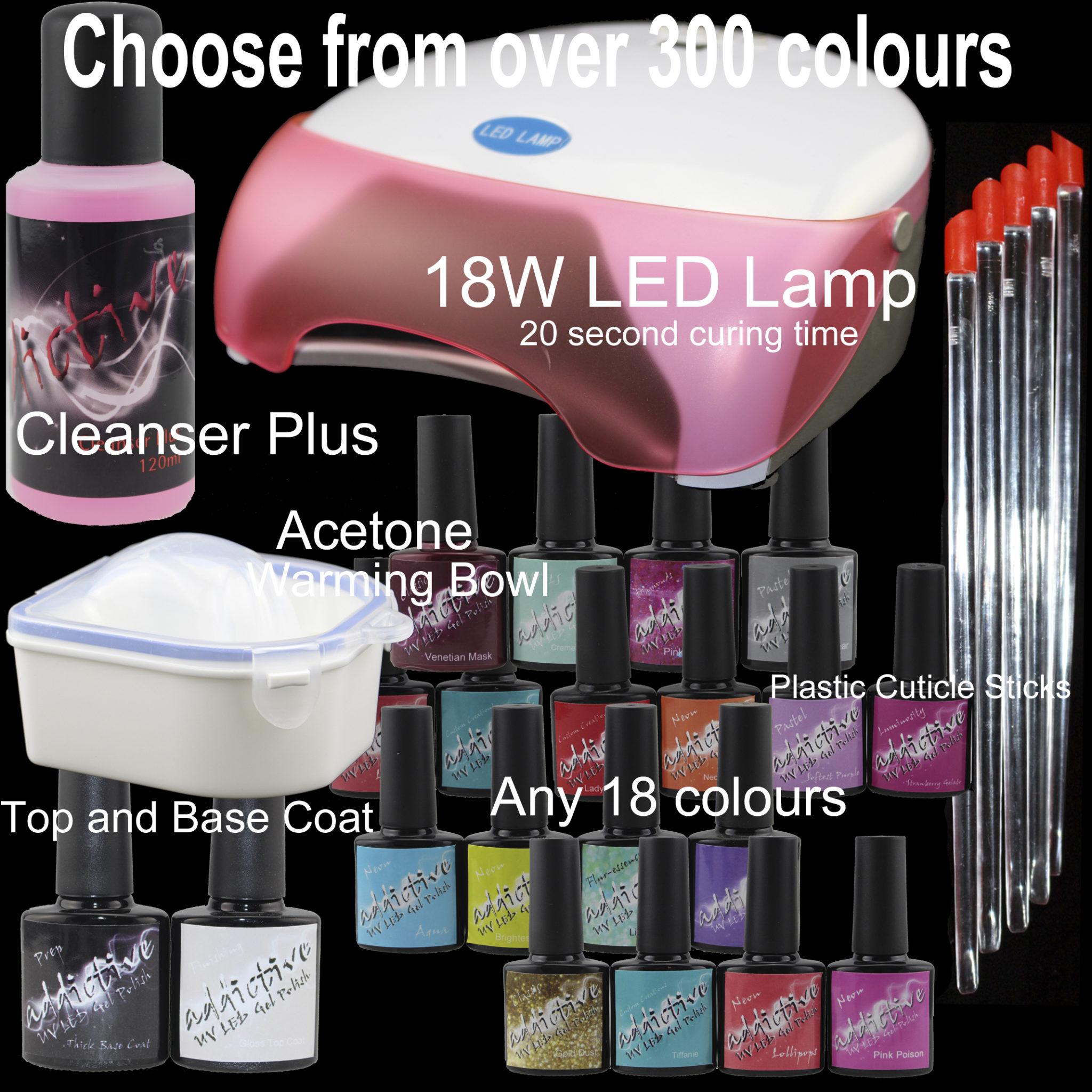 Addictive UV LED Gel Starter Kits and lamps