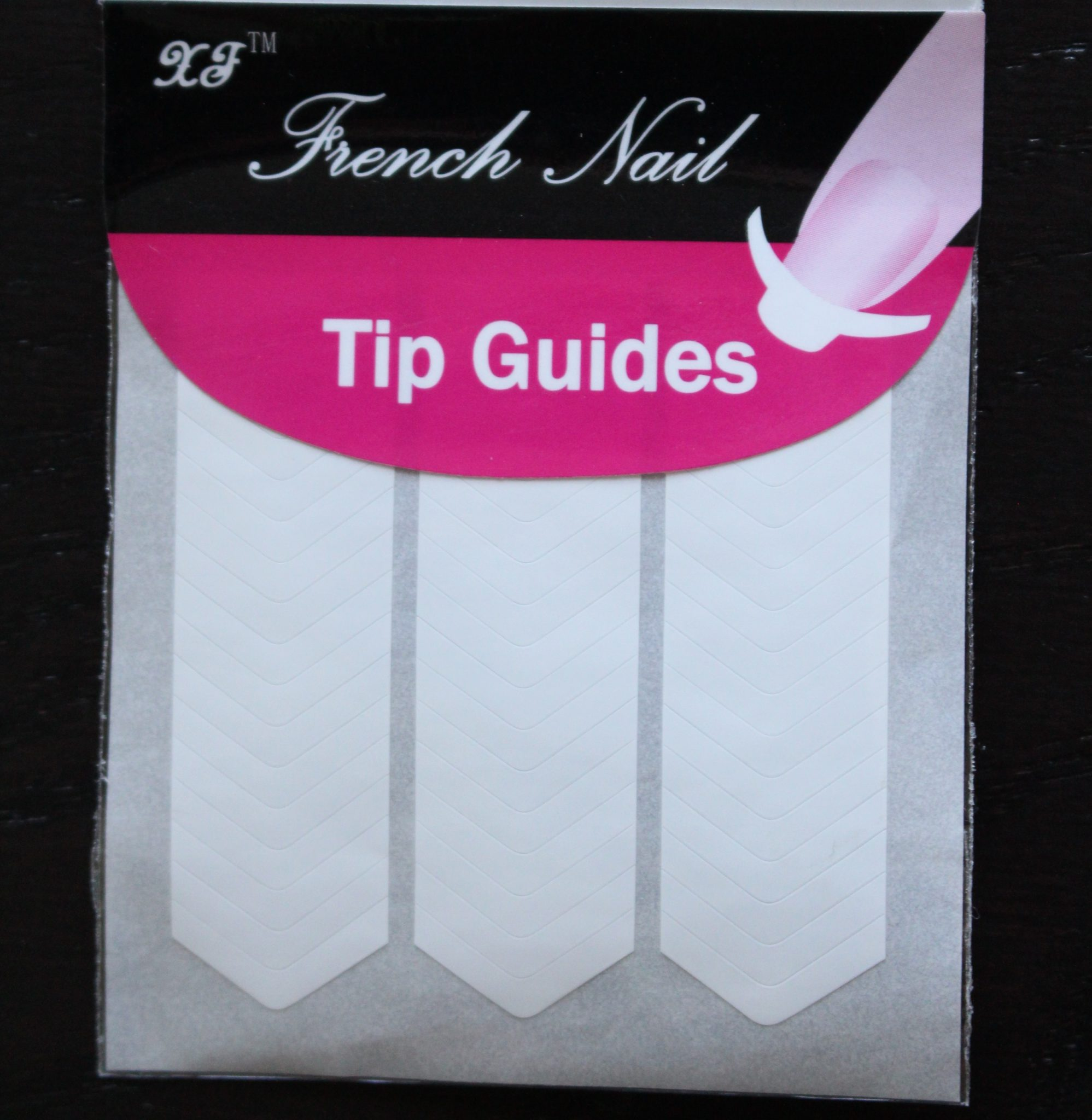 French Polish Nail Guide Stickers – 3 rows chevron « Simply ...